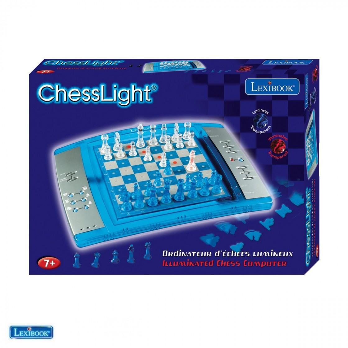 Lexibook LCG3000 Illuminated Electronic Computer Chess Light Game Board