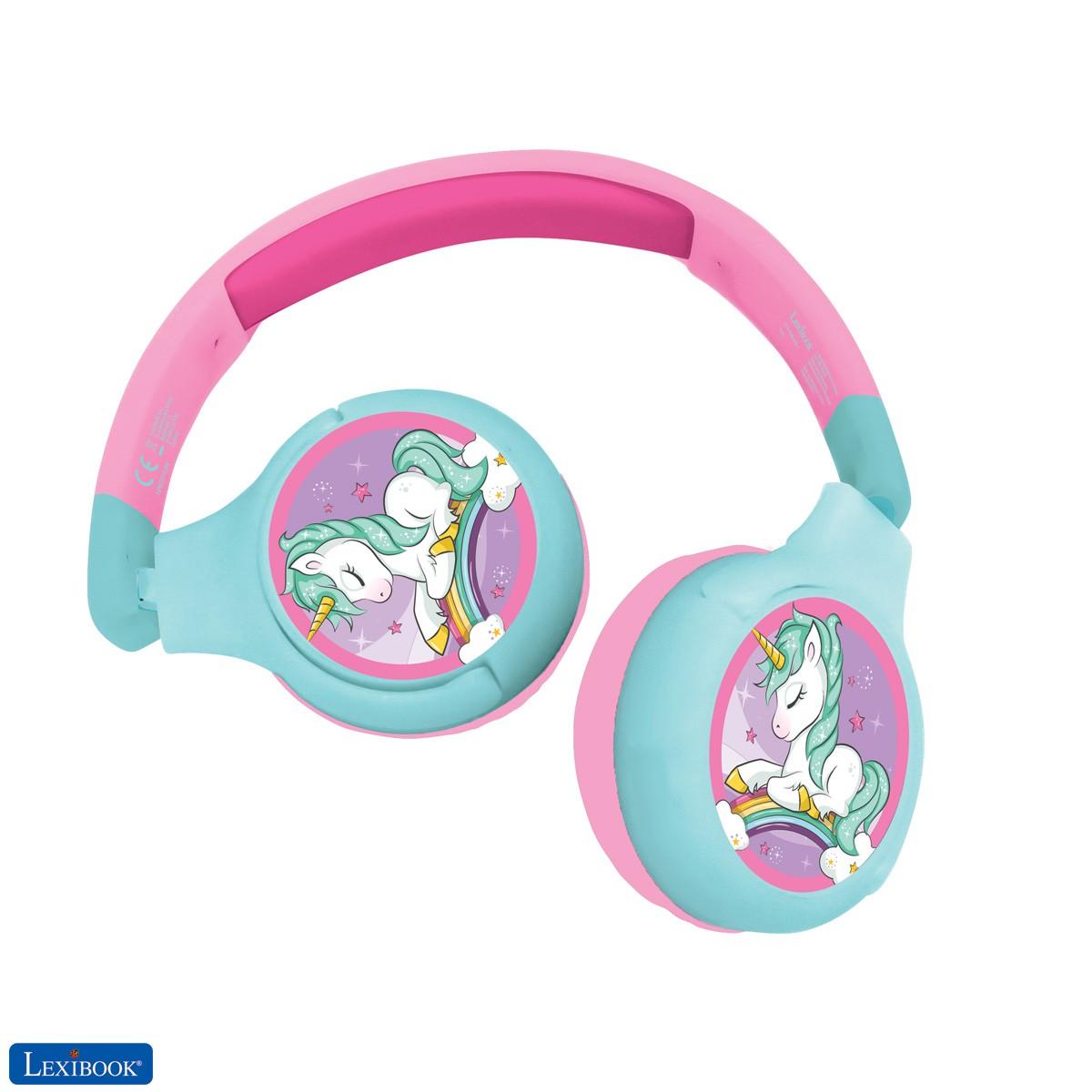 Unicorn 2-in-1 Bluetooth Headphones for Kids