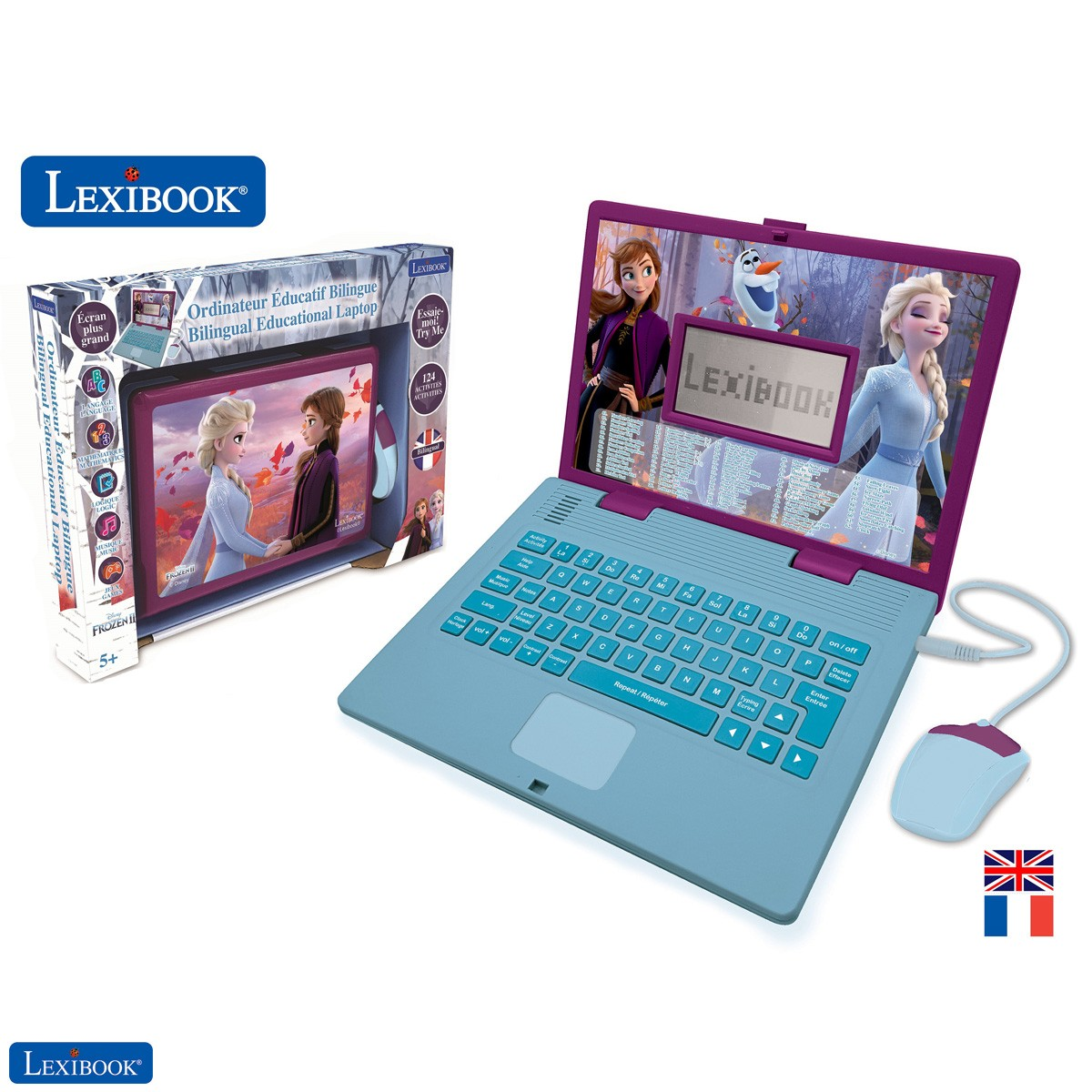 Disney Frozen 2 - Educational and Bilingual Laptop French/English