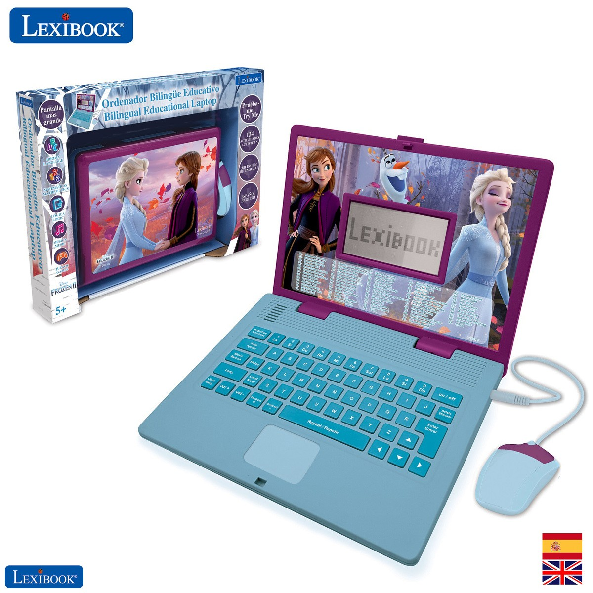 Disney Frozen 2 - Educational and Bilingual Laptop Spanish/English