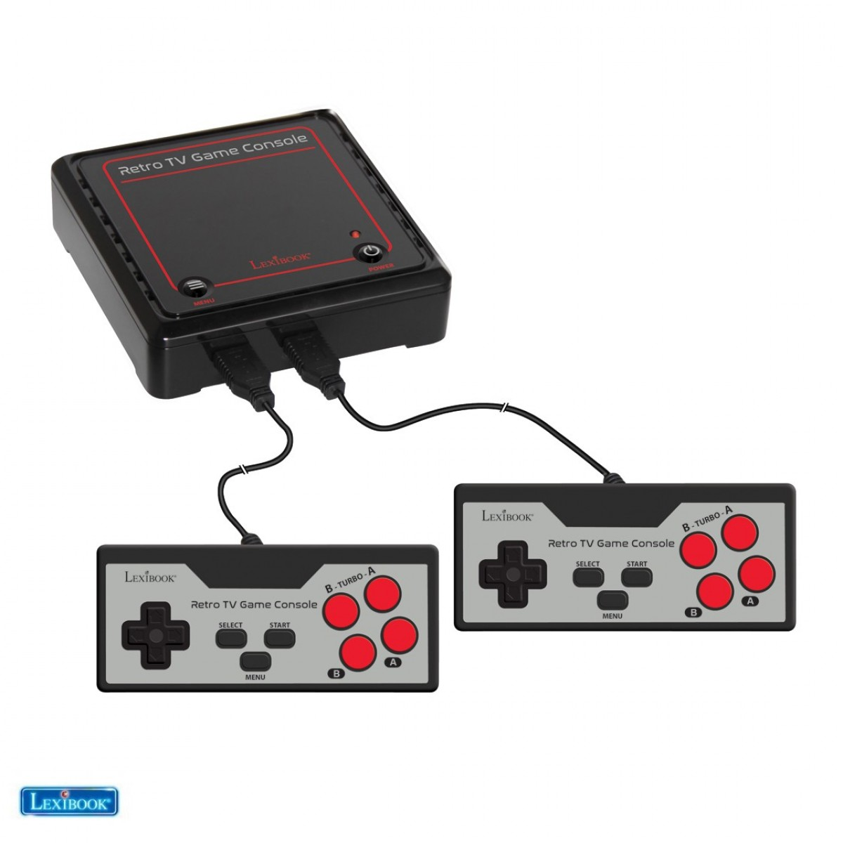 Retro game console with 2 controllers and 300 games