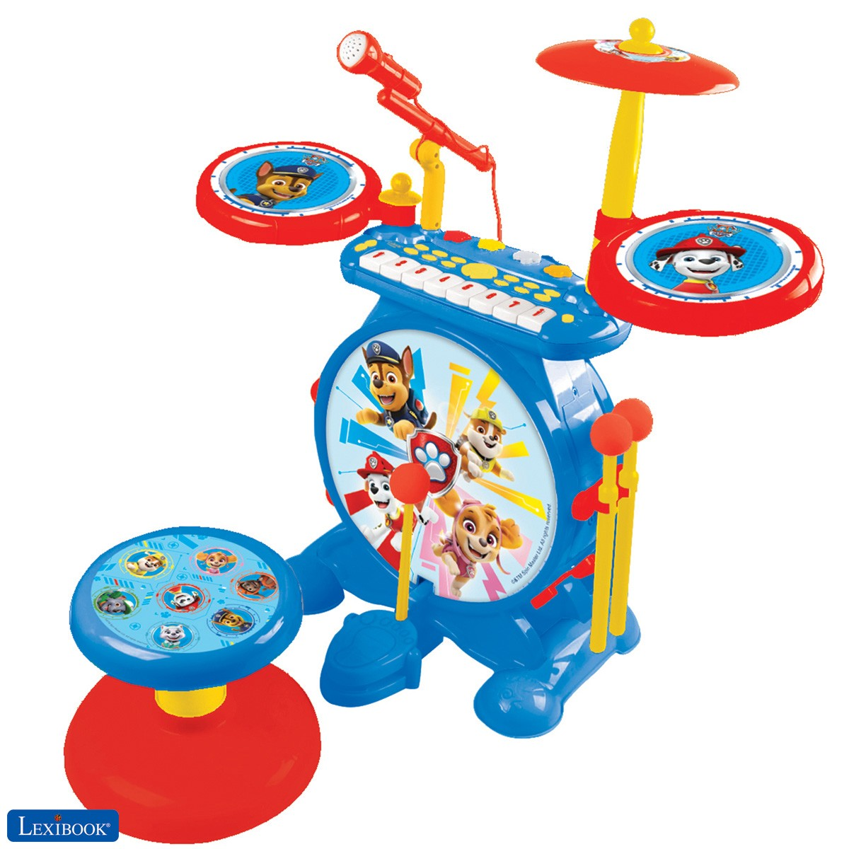 Paw Patrol Chase Electronic Drum Set for children
