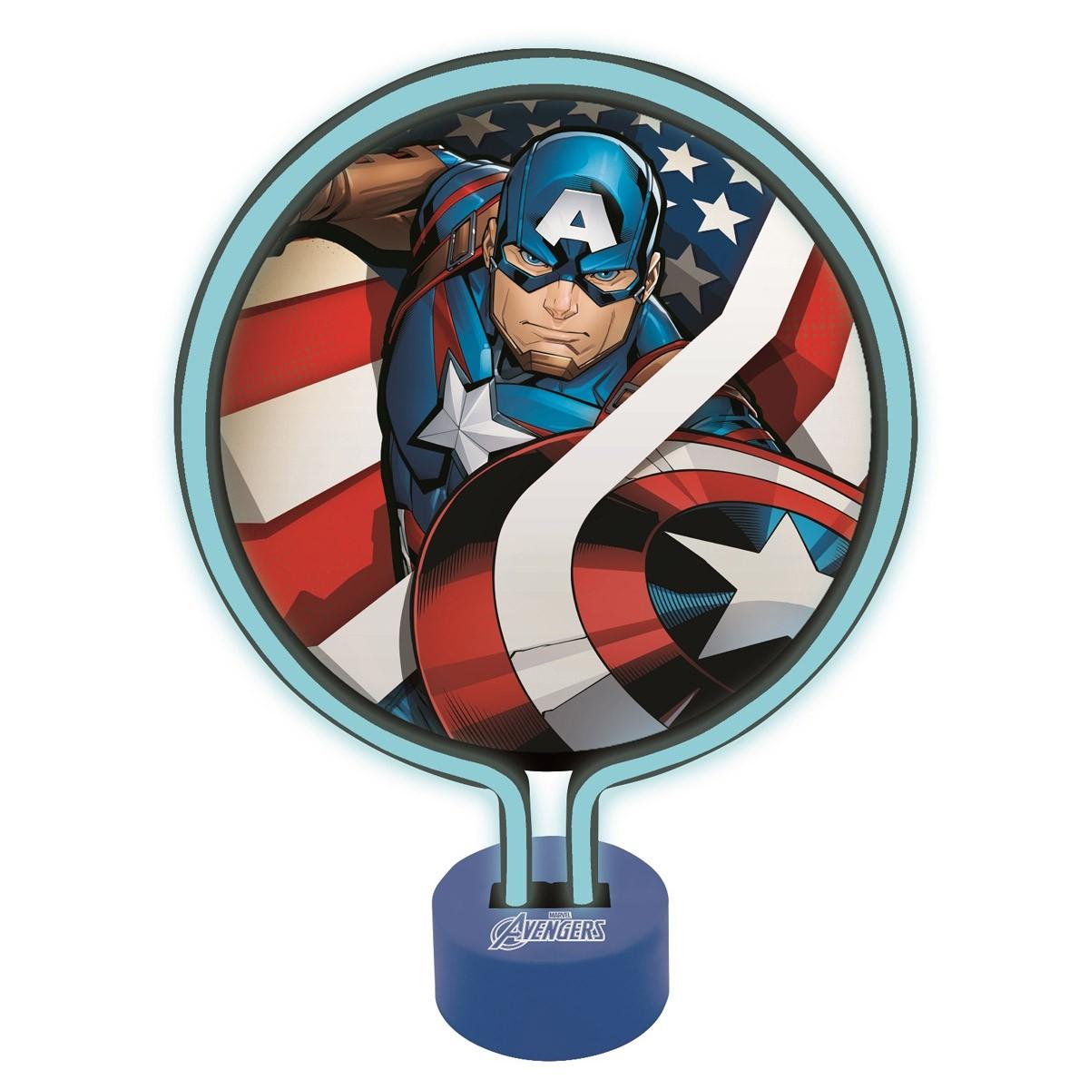 Avengers Captain America Neon Lamp