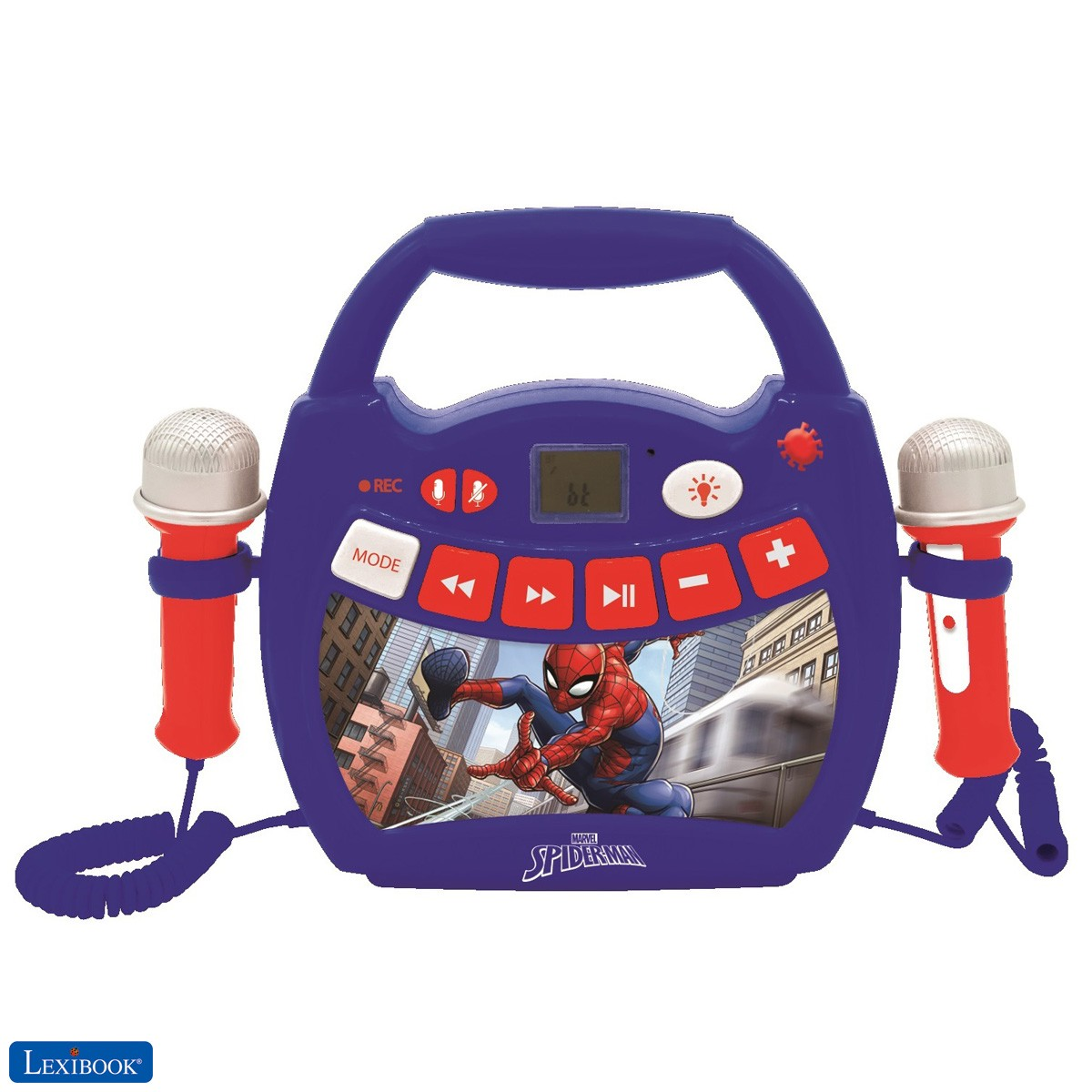 Spiderman - Karaoke portable digital player with 2 mics