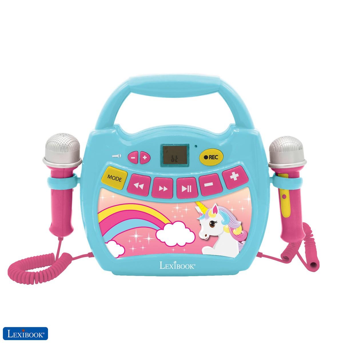 Unicorn, My first digital player karaoke with 2 toy mics