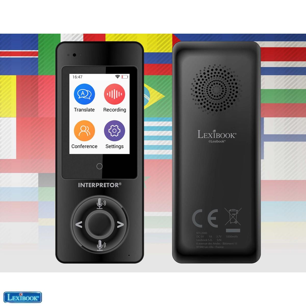 Lexibook Interpretor®, Traducteur parlant instantané, 45 langues