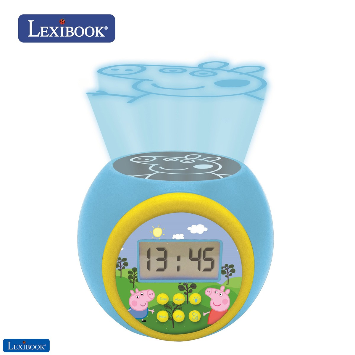 Projector Alarm Clock Peppa Pig with snooze function and alarm function