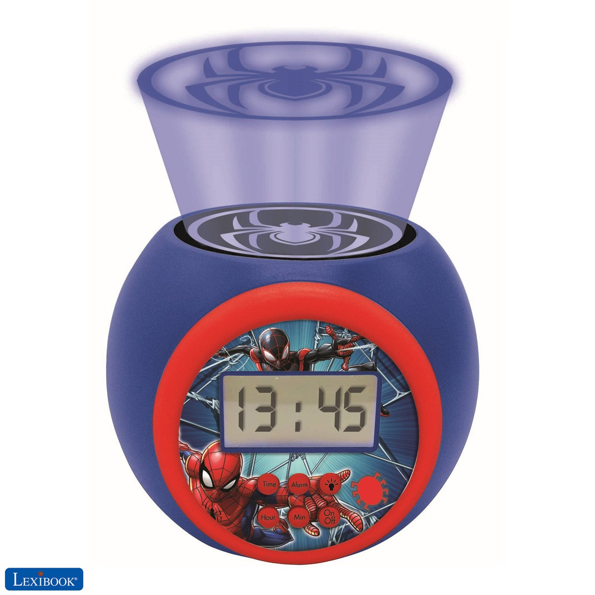 Projector Alarm Clock Spiderman Marvel with snooze function and alarm function