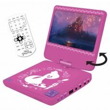 """Lexibook Disney Princesses Raiponce Lecteur DVD portable, écran LCD 7"""", 2 haut-parleurs, batterie rechargeable, rose/blanc, DVDP6DP"""