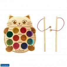 Bio Toys Wooden Cat fishing game