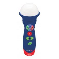 Lexibook Pyjamasques Yoyo, Microphone Lumineux, fonction enregistrement, chansons de démo, haut-parleur intégré, Bleu/Rouge, MIC50PJM