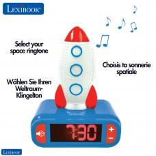 Rocket Digital Alarm Clock for kids with Night Light Snooze