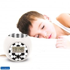 Projector Alarm Clock Football with snooze function and alarm function