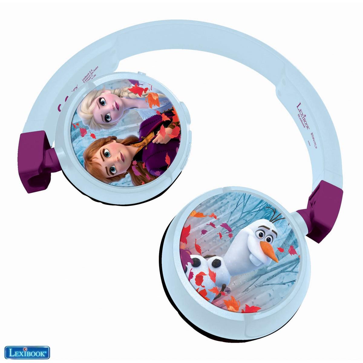 Disney Frozen Die Eiskönigin Elsa Anna, Stereo Kopfhörer mit Audiokabel modus und Bluetooth (drahtlos) modus