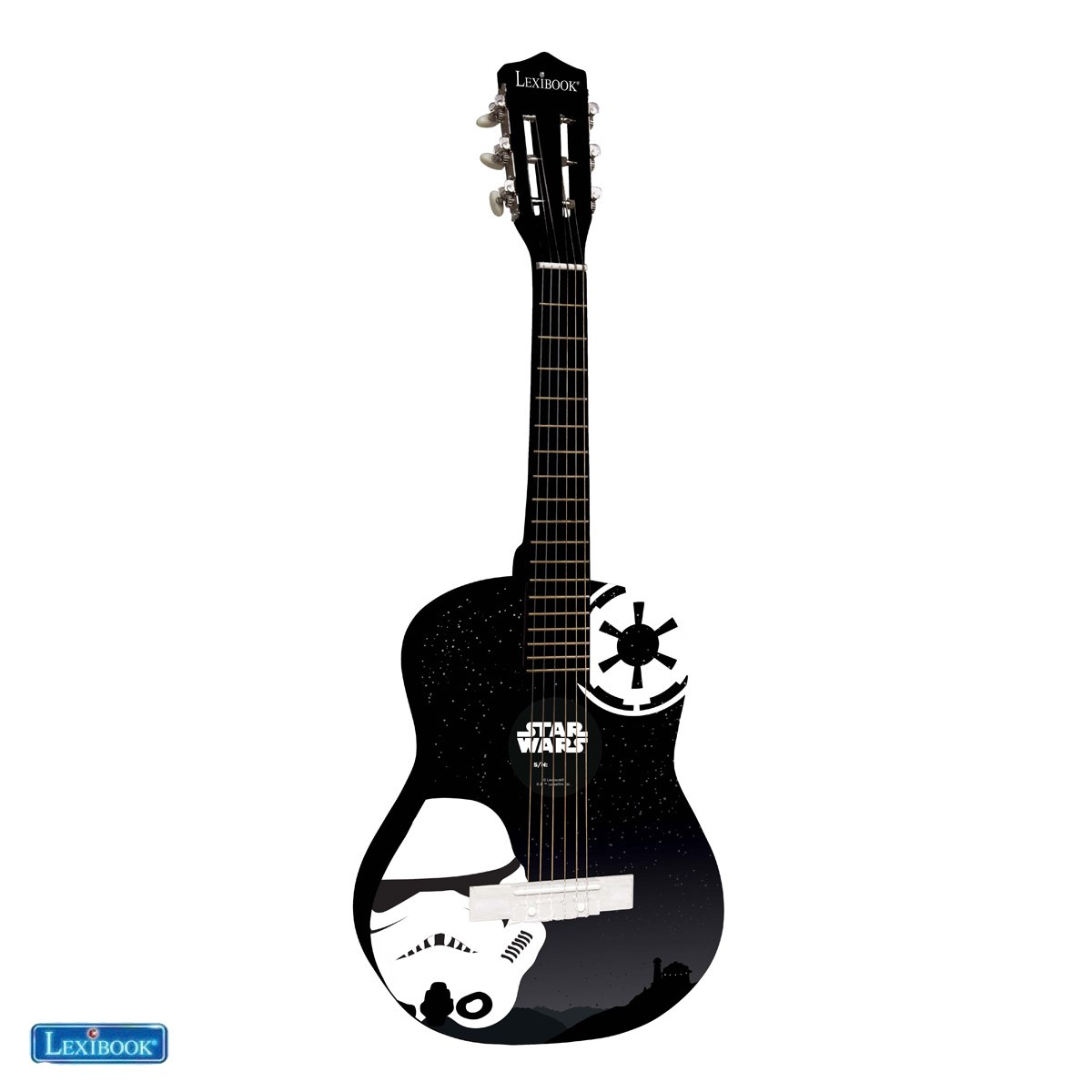 Star Wars Rey Poe Finn BB-8 Wooden Acoustic Guitar - Lexibook K2000SW-4