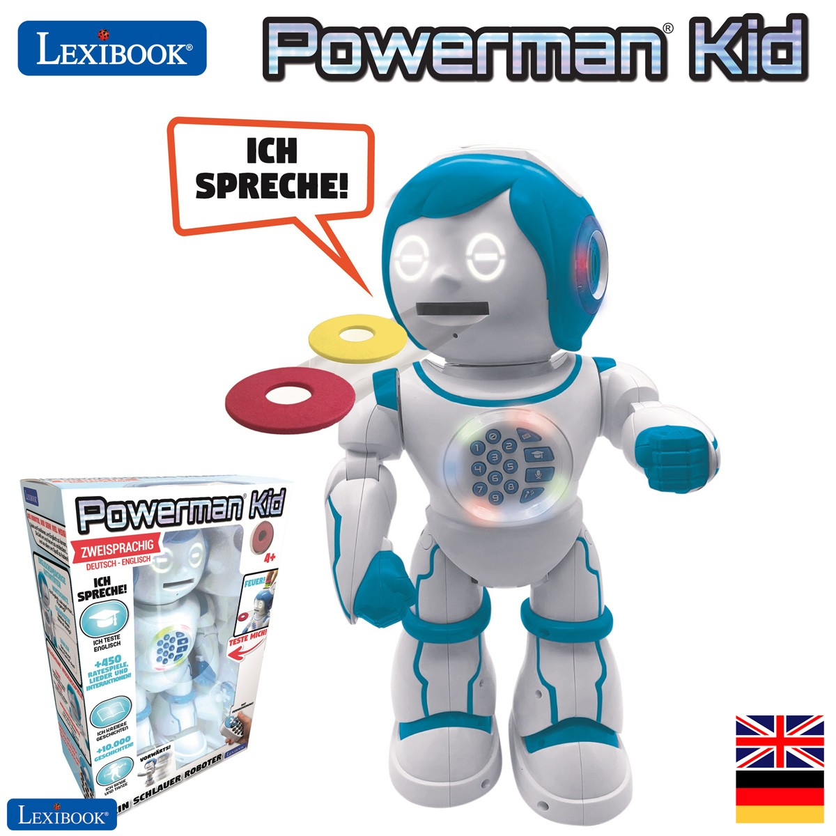 Powerman Kid - Pädagogischer und zweisprachiger deutsch/englischer Roboter