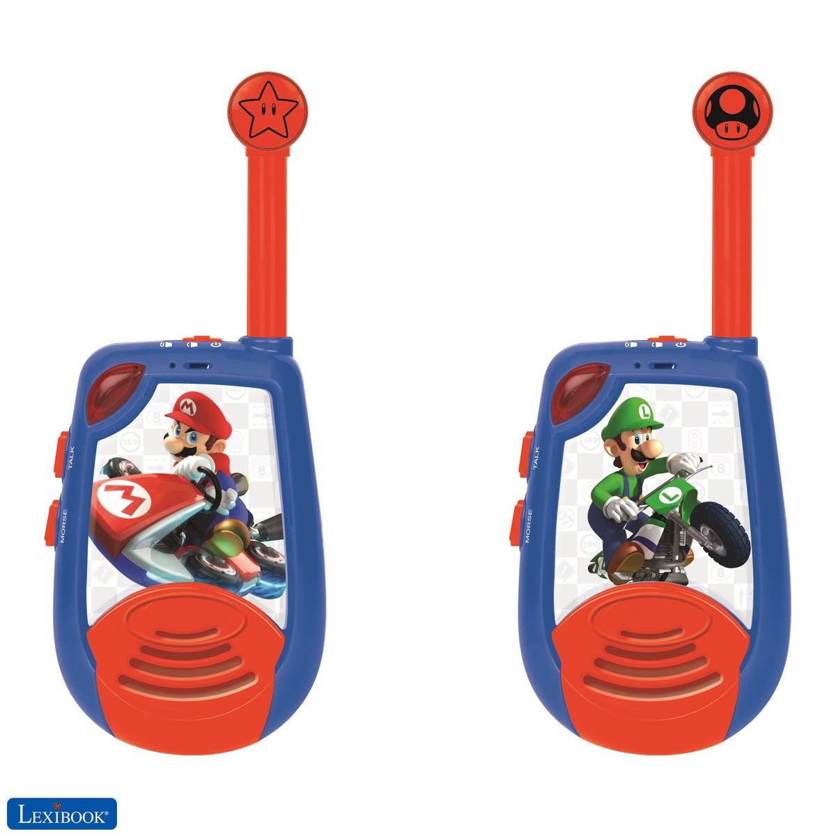Nintendo Mario Kart - Walkie-Talkies - Reichweite 2km, Licht-Morse Funktion, Gürtelclip, für Kinder / Jungen