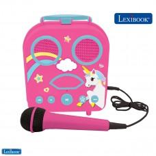 Tragbares Karaoke mit Mikrofon