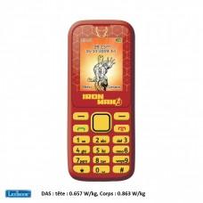 Feature Phone Avengers Iron Man 2G SIM-Free - Lexibook GSM20AV