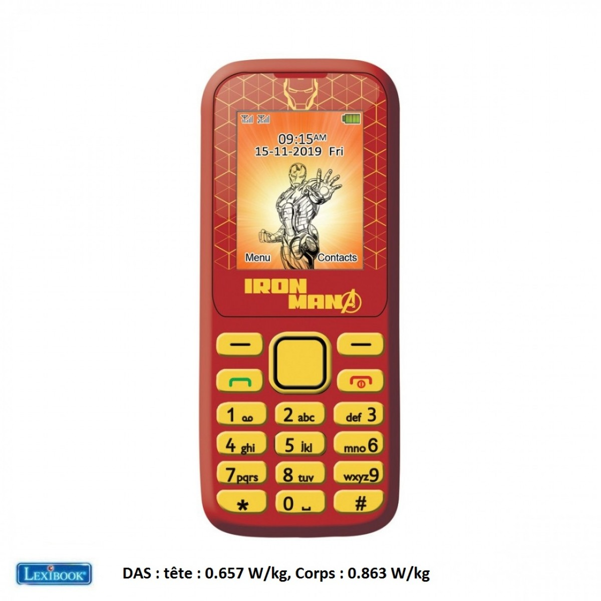 Téléphone Portable Avengers Iron Man