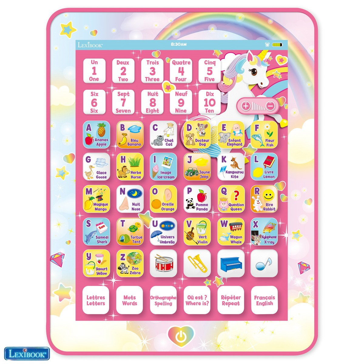Tablette éducative bilingue Licorne