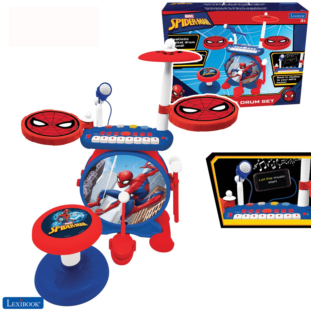 Spider-Man Batterie Électronique pour enfant