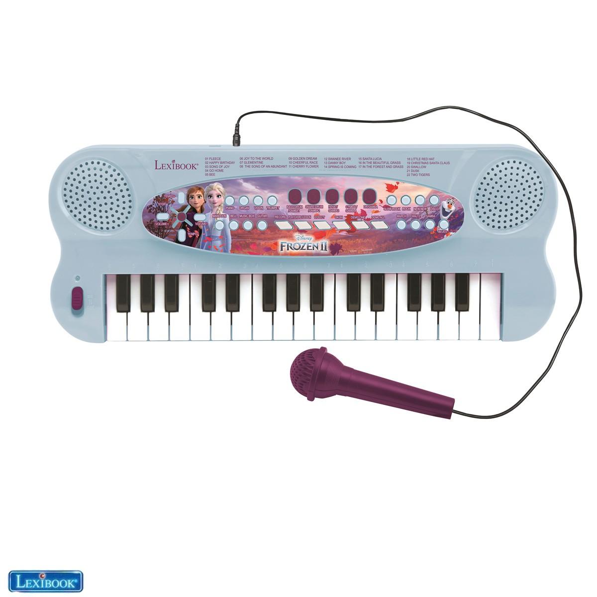 Clavier électronique avec microphone La Reine des Neiges 2