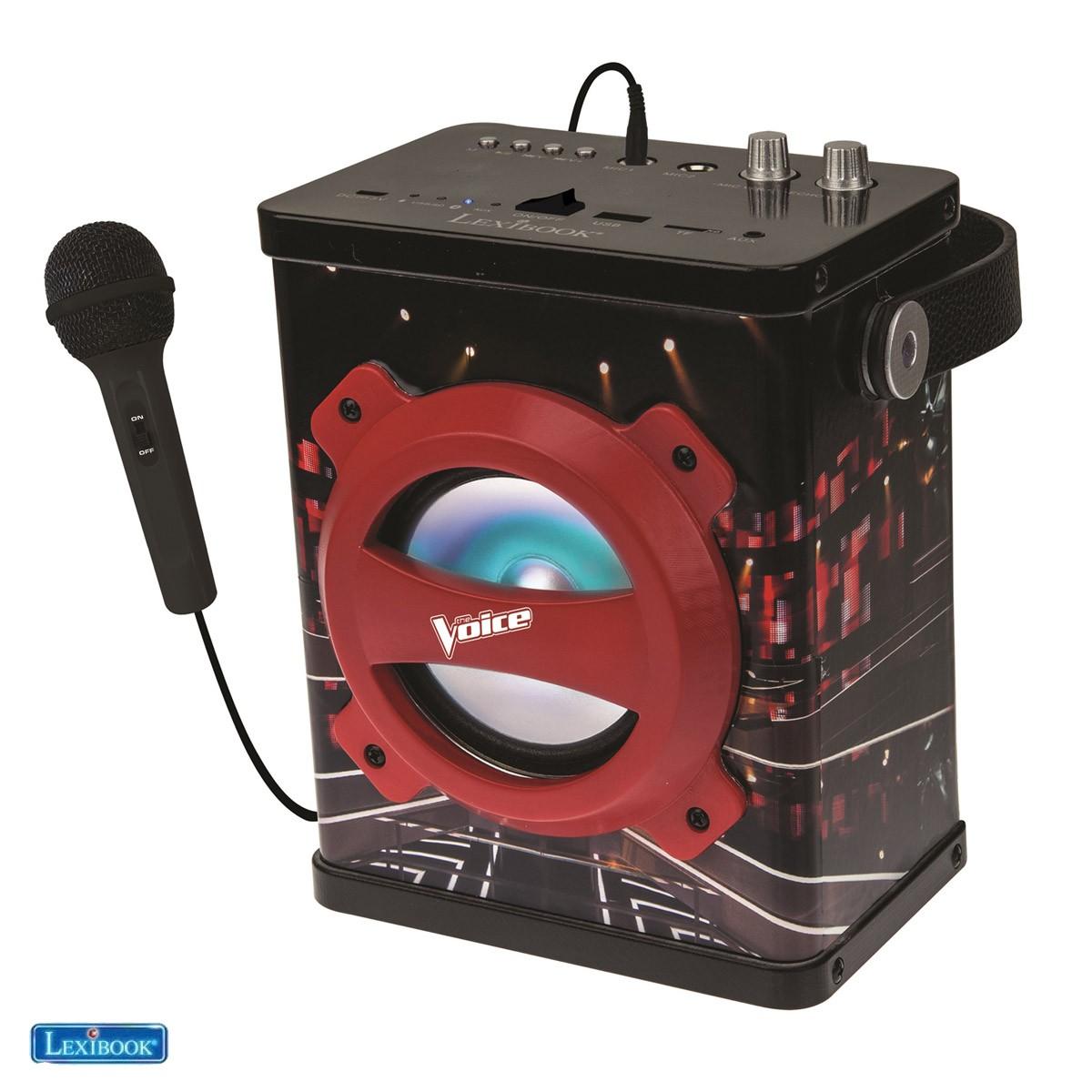The Voice La Plus Belle Voix Enceinte Bluetooth Portable avec micro - Lexibook K920TV