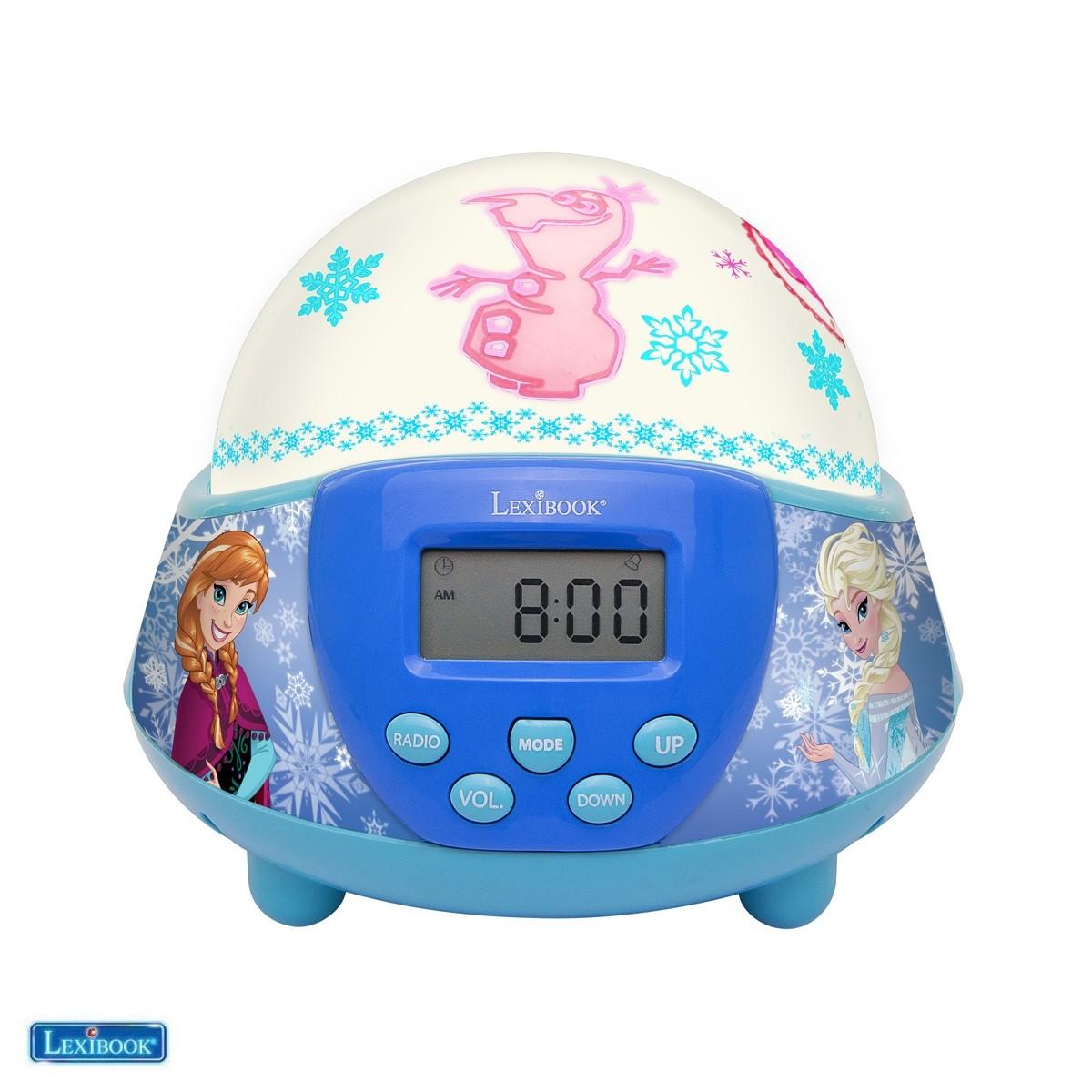 Radio réveil La Reine des Neiges avec dôme projecteur veilleuse - NLJ140FZ-00