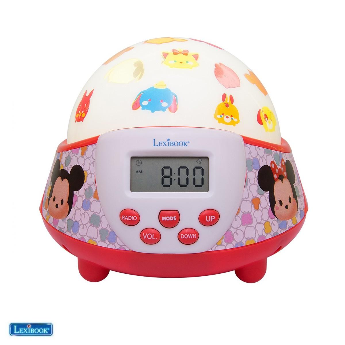 Radio réveil Tsum Tsum avec dôme projecteur veilleuse - Lexibook NLJ140TT-00