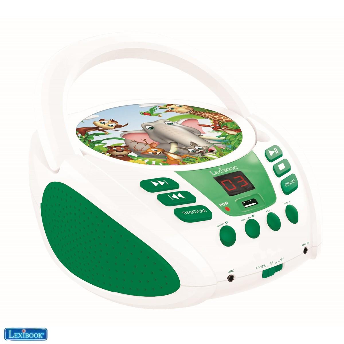 Radio lecteur CD Animaux pour Enfant