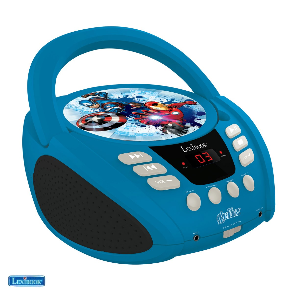 Marvel Avengers Iron Man Radio lecteur CD