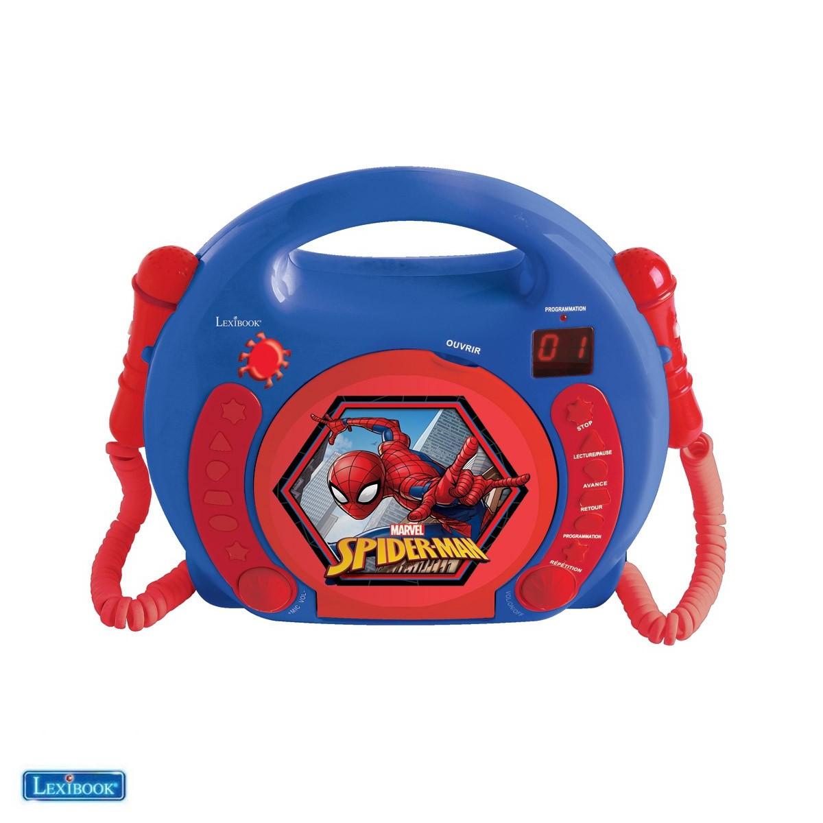 Lecteur CD avec microphones Spiderman - Lexibook