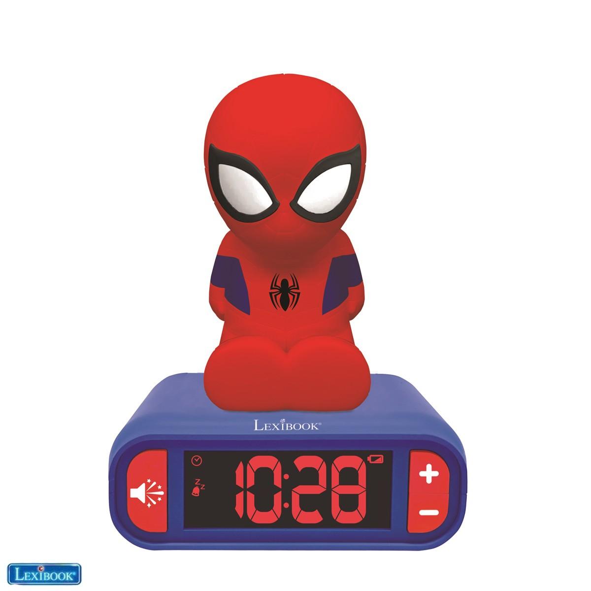 Réveil Veilleuse Spider-Man pour Enfant