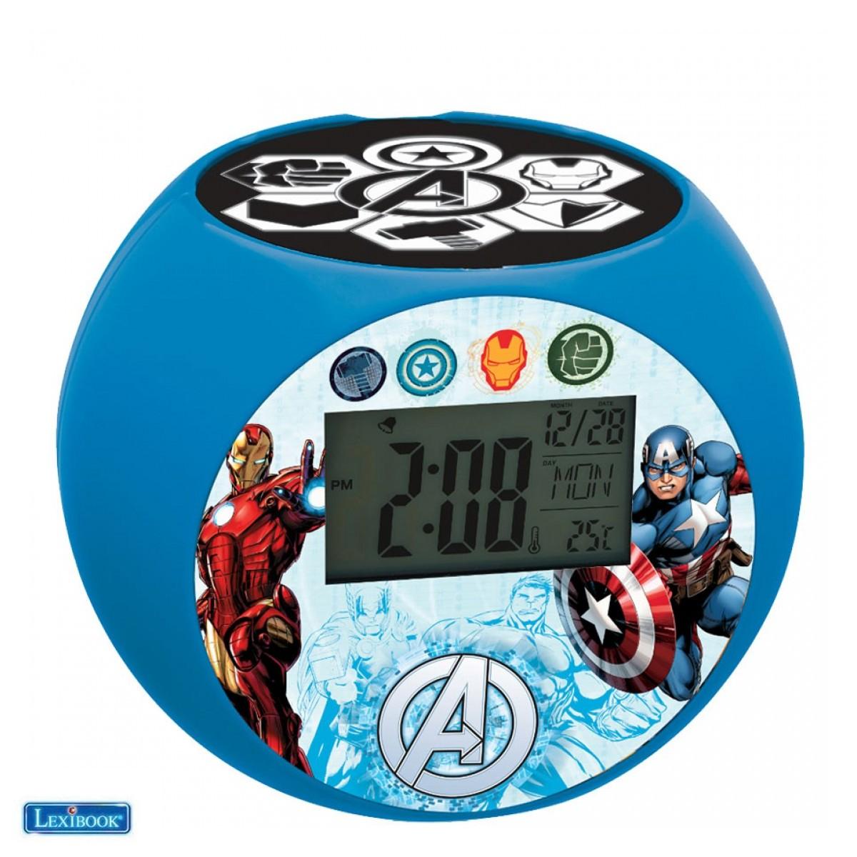 Radio Réveil avec projecteur Avengers