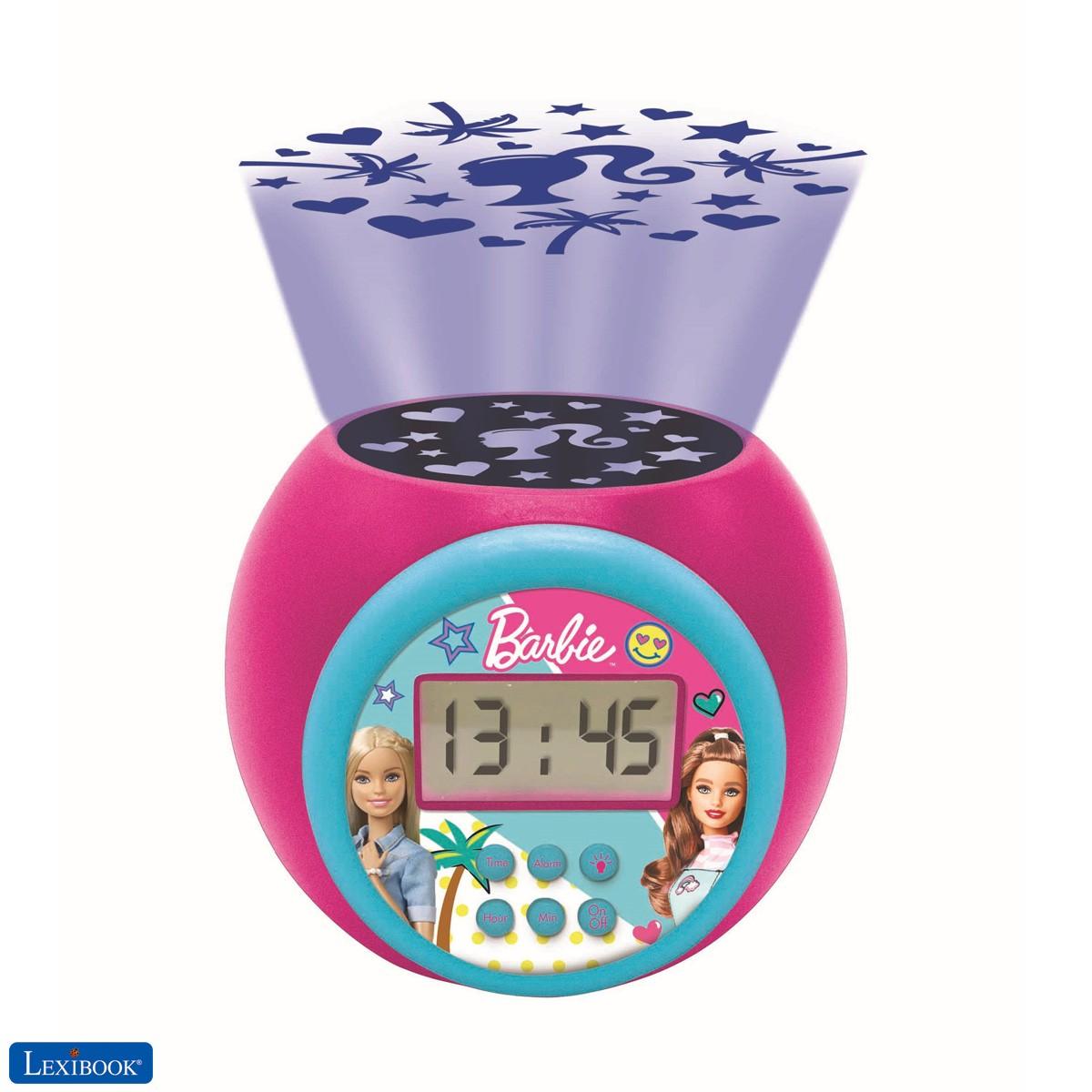 Réveil projecteur Barbie avec fonction alarme et répétition snooze