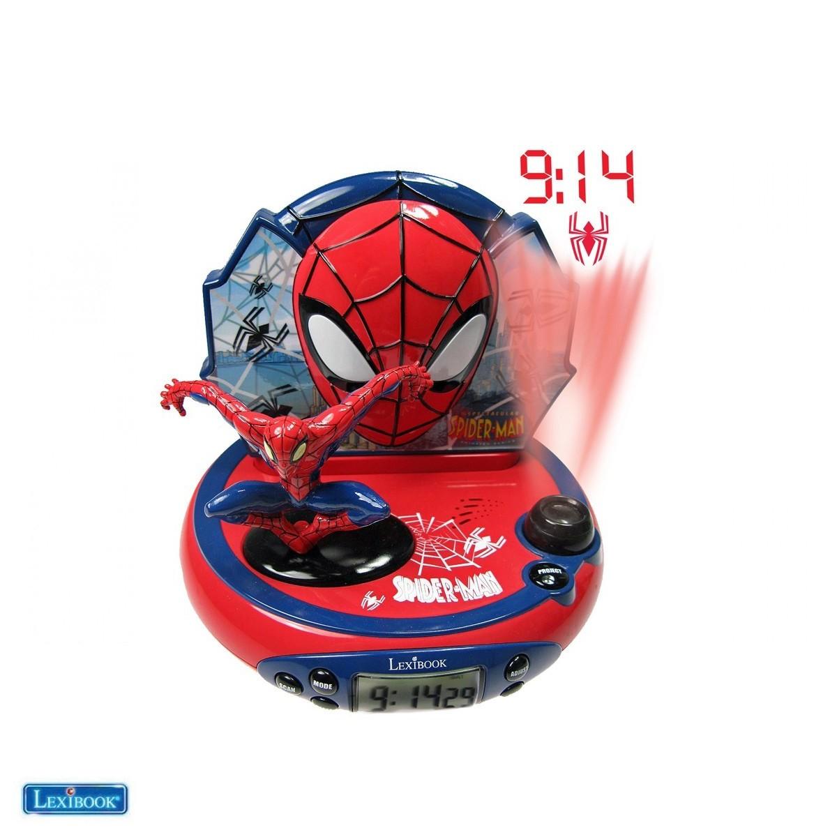 Radio réveil projecteur Spider-Man - Lexibook RP500SP
