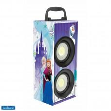 disney La Reine des Neiges, Karaoke Portable avec Micro, 4W RMS, lumineux avec LED, prise jack, batterie rechargeable