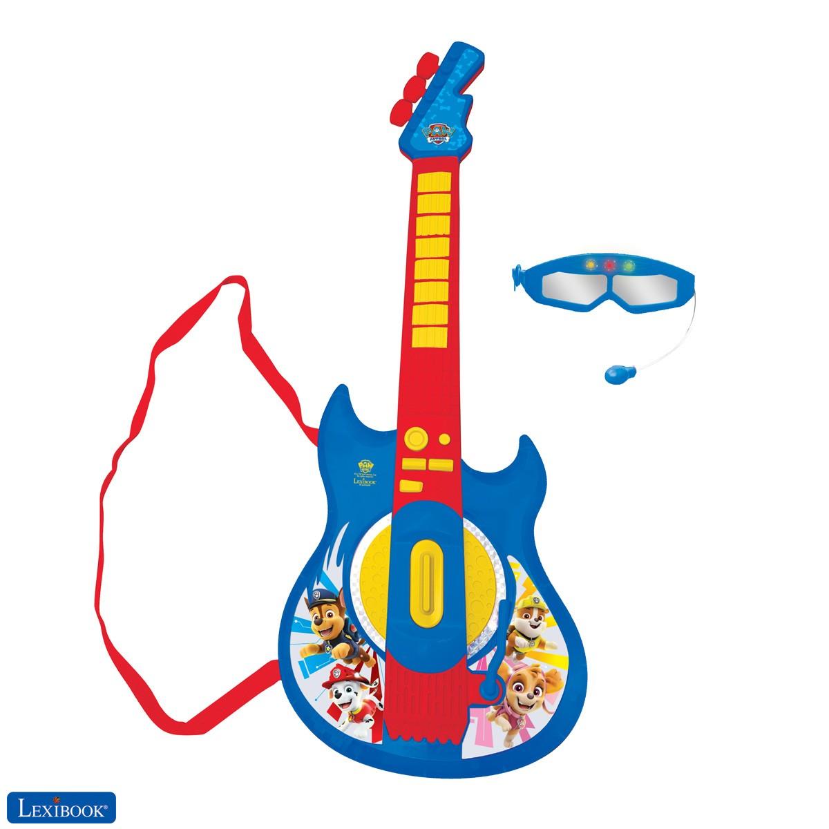 Paw Patrol La Patrulla Canina Guitarra electrónica luminosa con micrófono