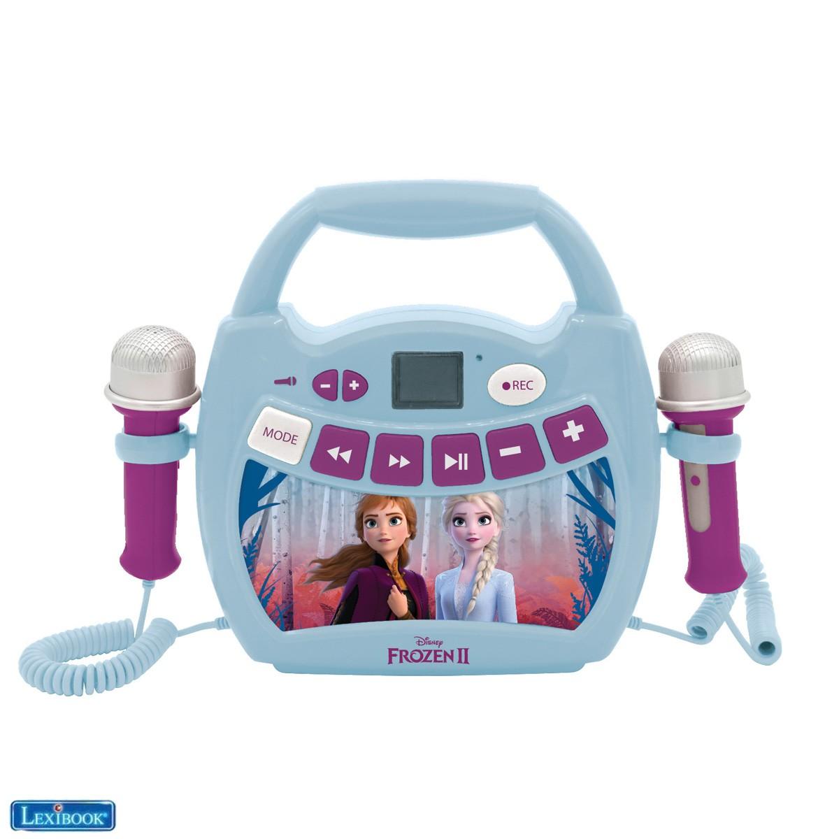 Disney Frozen 2 Elsa, Anna - Mi primer reproductor digital Bluetooth con 2 micrófonos