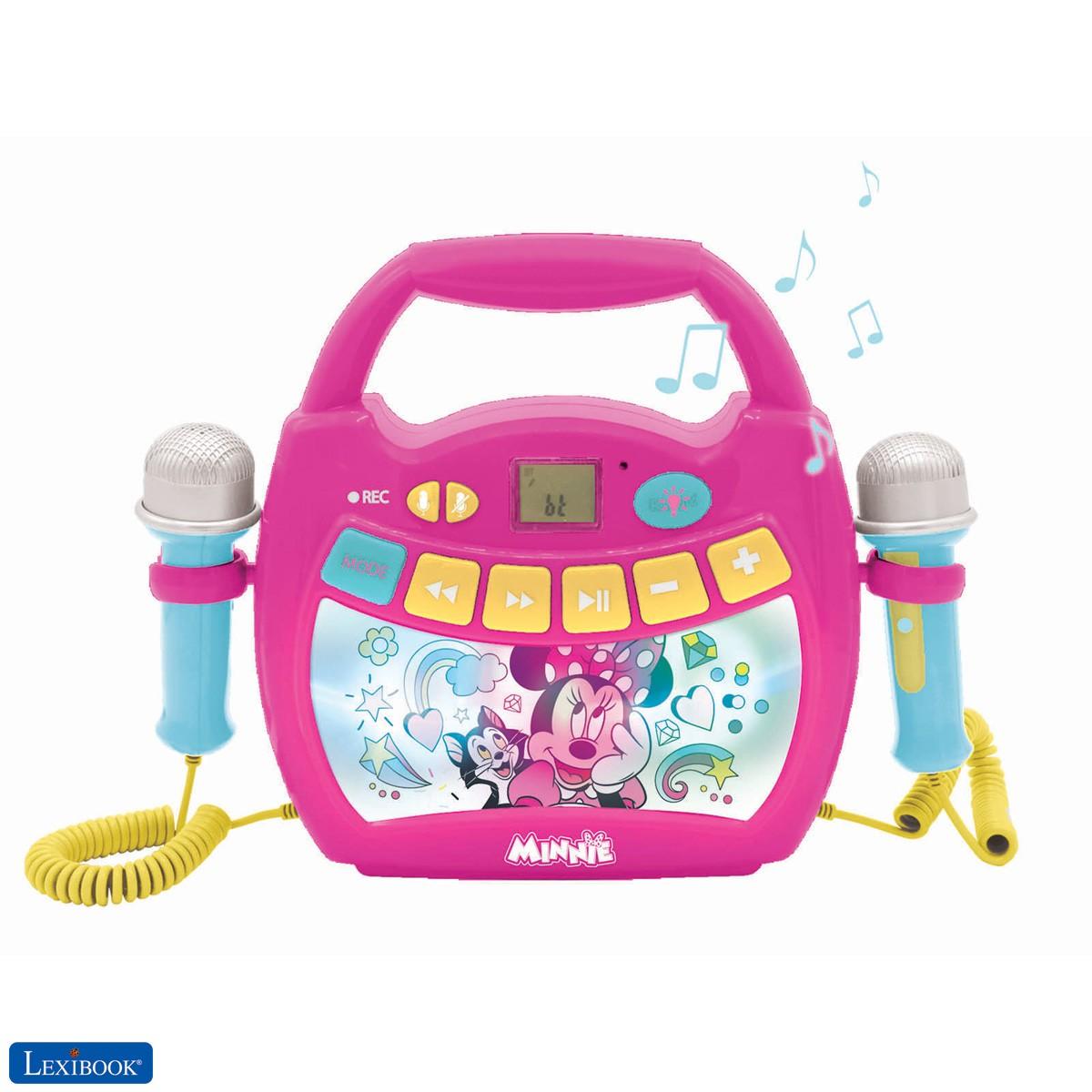 Disney Minnie - Reproductor de música de karaoke portátil para niños