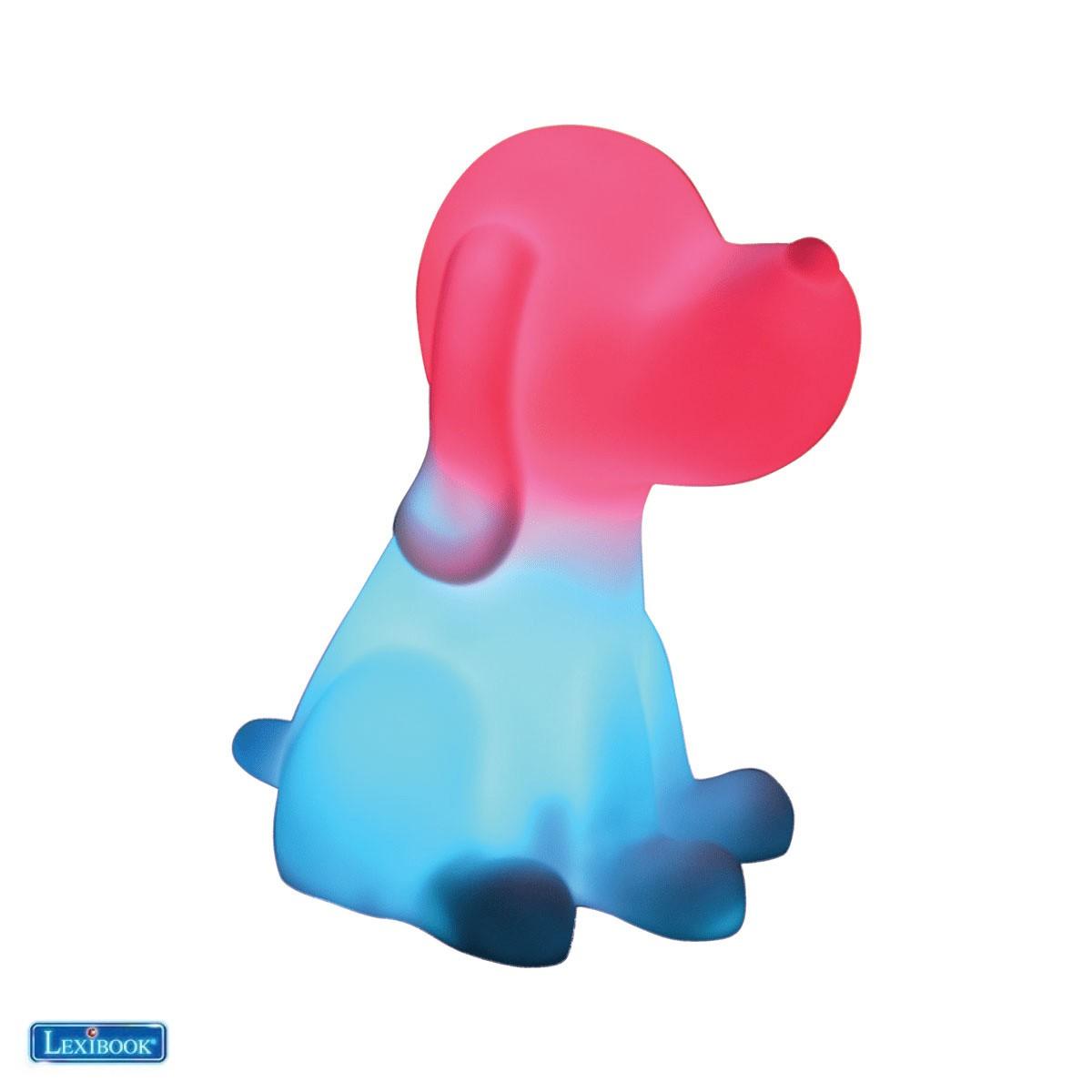 Perro luz nocturna LED para niños, cambio de color