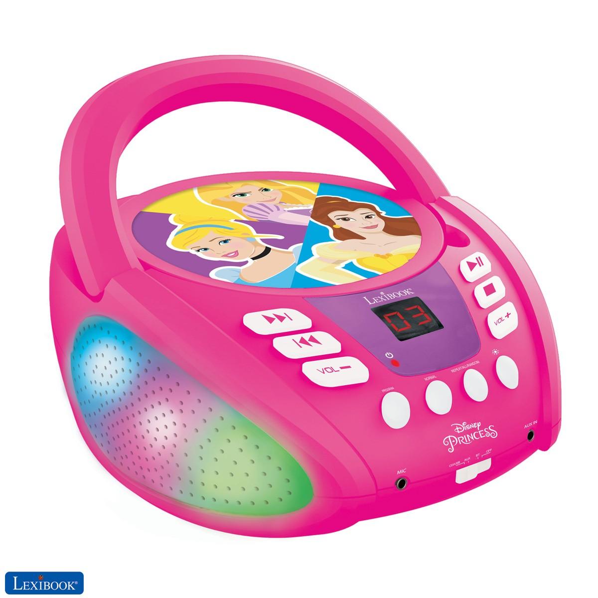 Disney Princesa - Lector de CD Bluetooth para niños