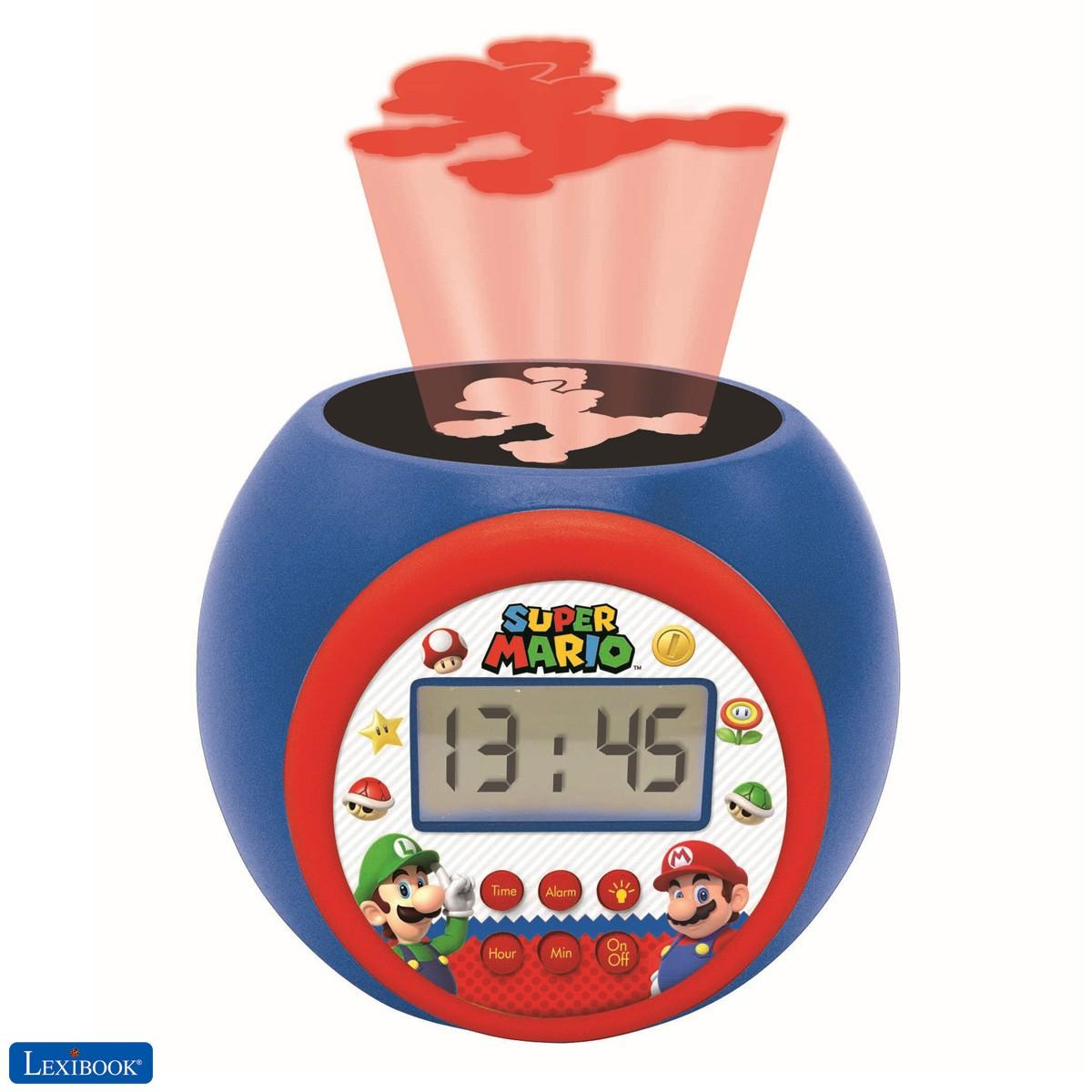 Reloj despertador con proyector Nintendo Super Mario & Luigi