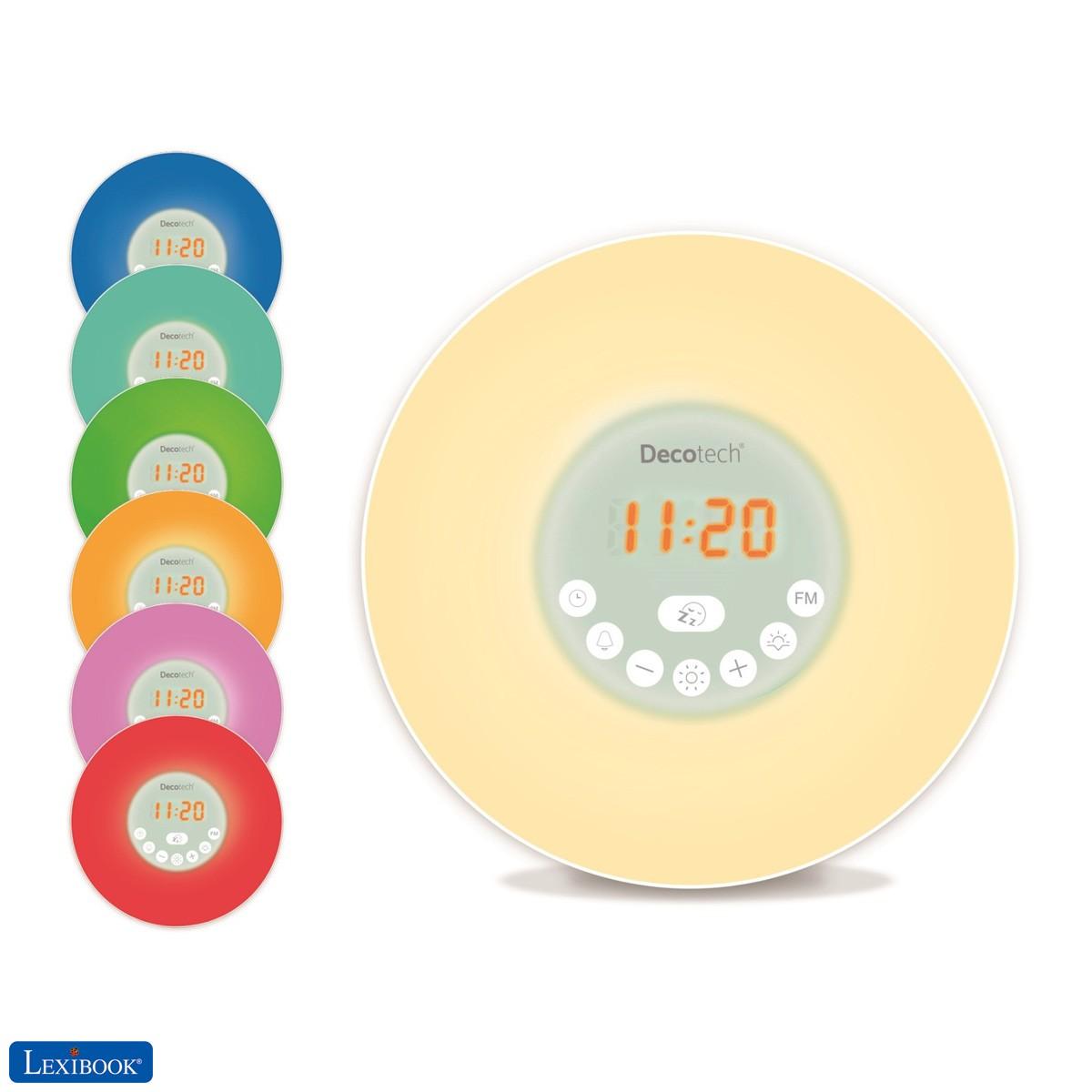 Decotech - Reloj simulador de amanecer de colores