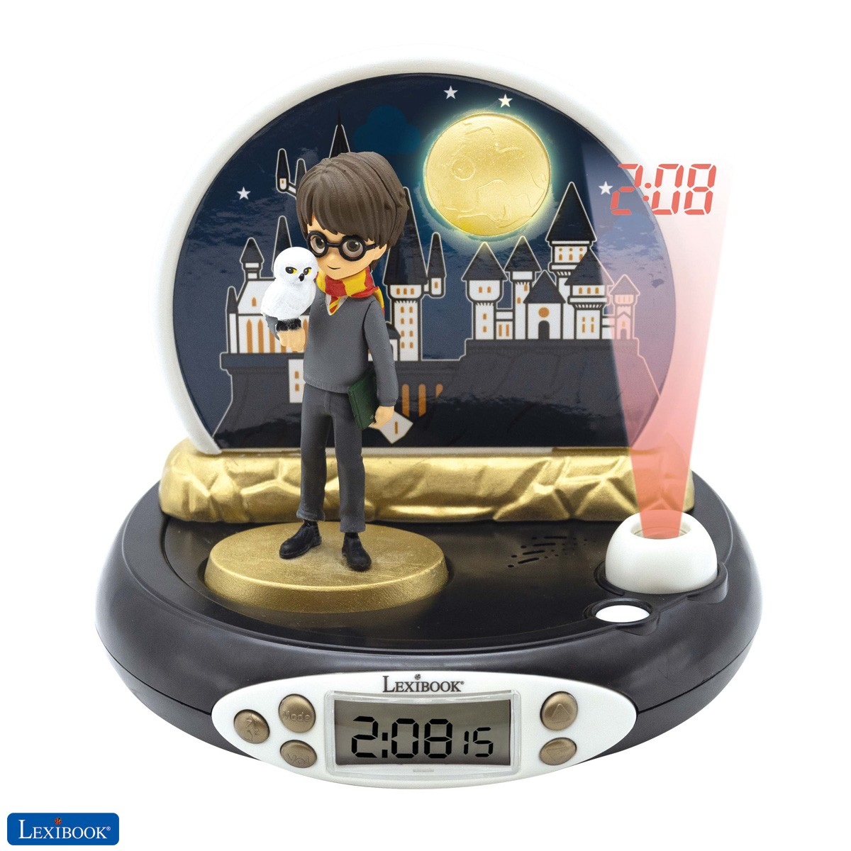 Warner Harry Potter Radio reloj proyector