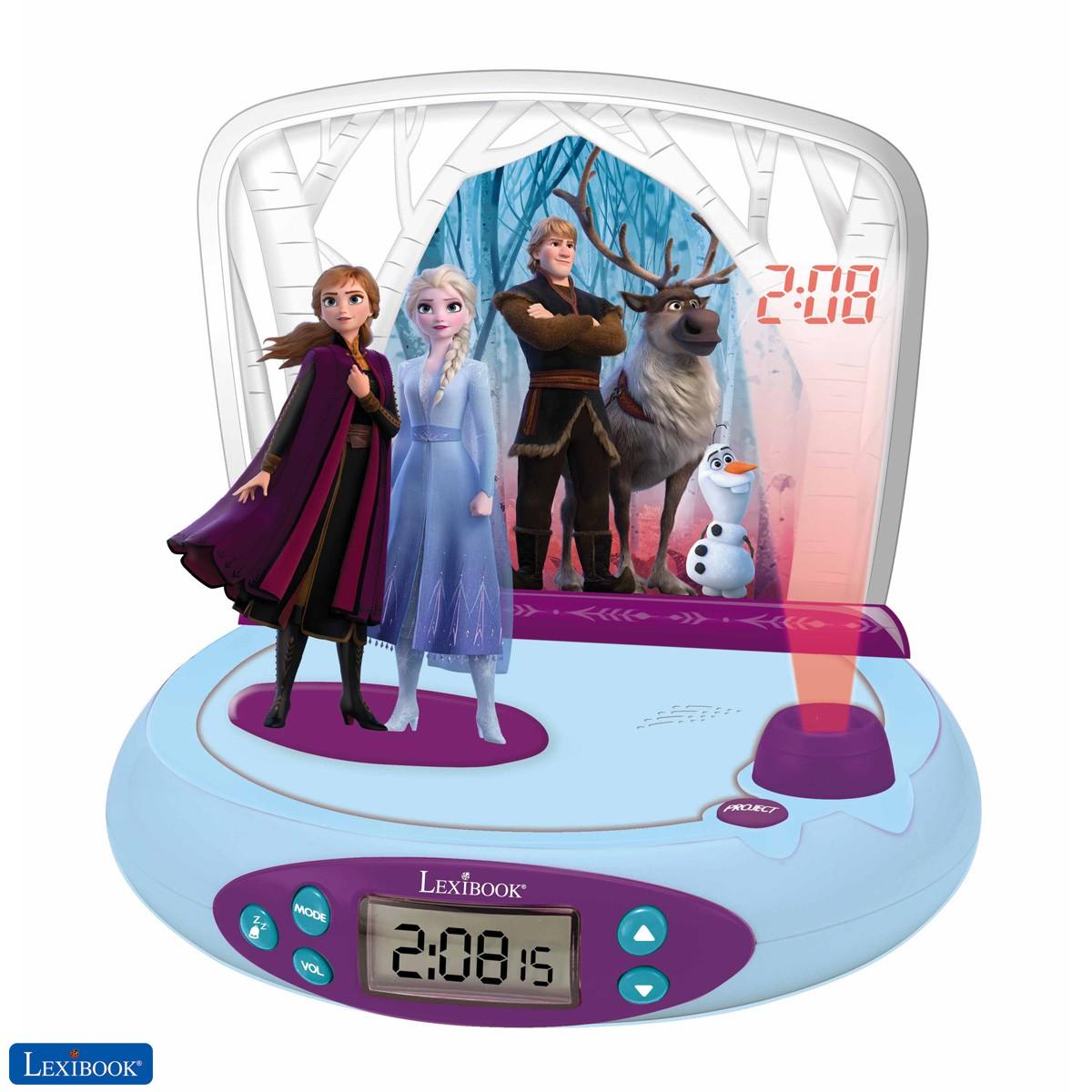 Reloj despertador con proyecto Frozen 2