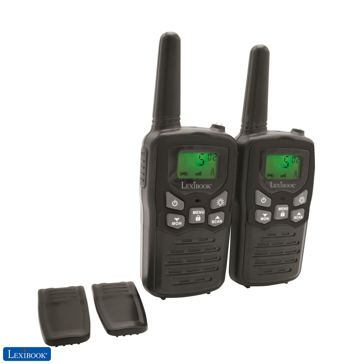 Par de walkie talkies, rango transmisión de 8km