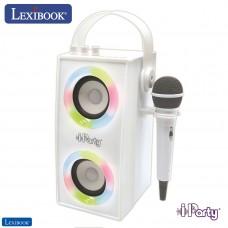 iParty - Altavoz portátil Bluetooth con luz y micrófono