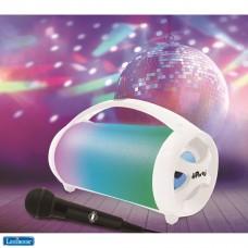 iParty - Altavoz portátil Bluetooth con luz y micrófono, estéreo